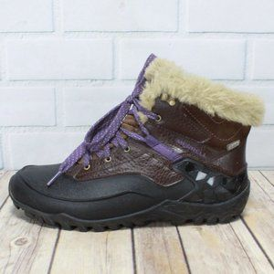 MERRELL Select Grip Ankle Faux Fur Boots Size 7.5